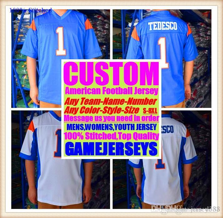 70446e1e1 2019 Custom American Football Jerseys Cleveland Dallas College Authentic  Retro Rugby Soccer Baseball Basketball Hockey Jersey 4xl 5xl 6xl White From  ...