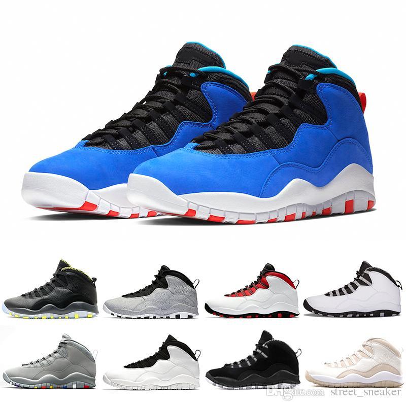 detailed look ee3a7 758fe Nike Air Jordan 10 2018 Tinker Huarache Light 10s Zapatillas de baloncesto  Cemento 10 Westbrook Estoy de vuelta Blanco Negro Fresco Gris Bobcats Gris  ...