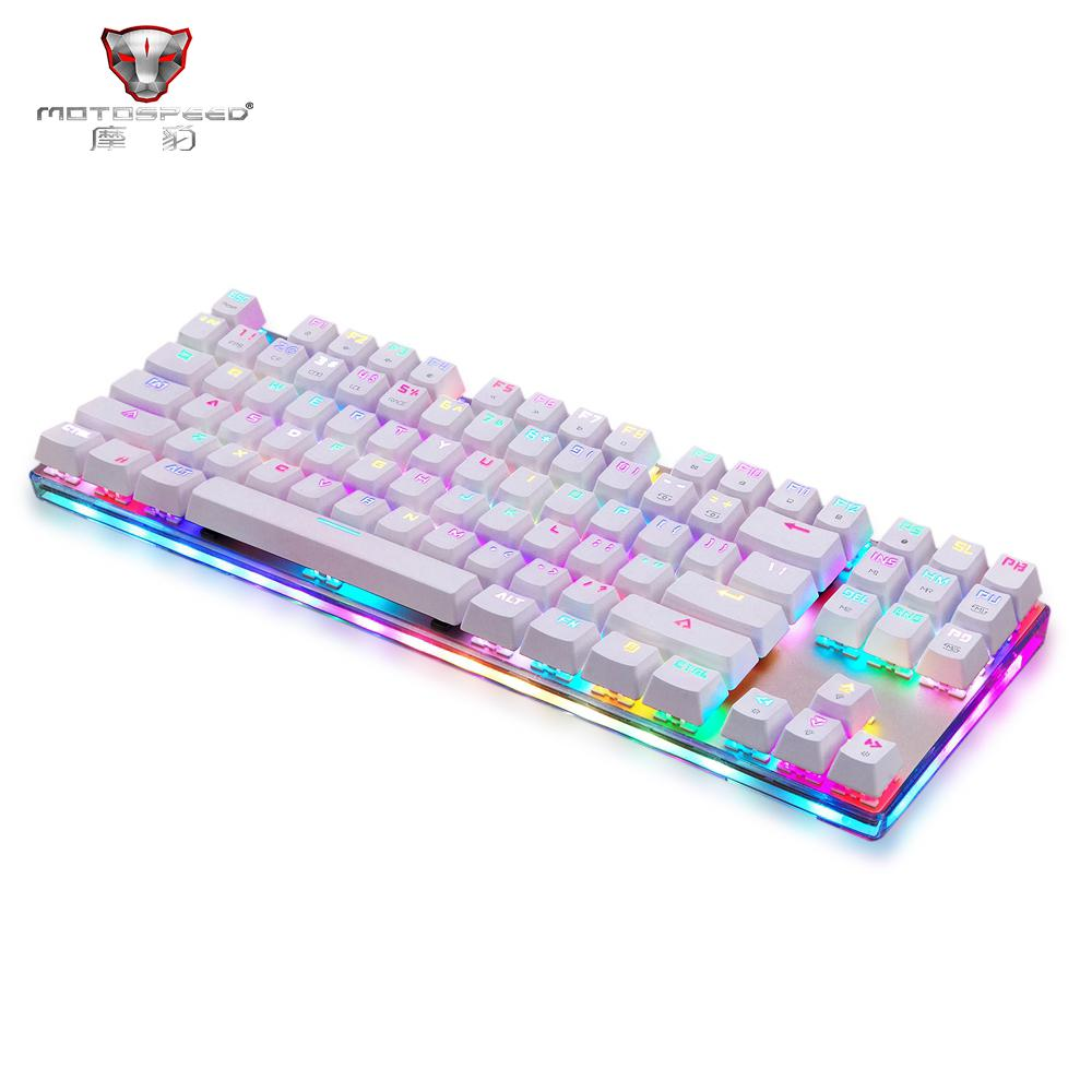 e0053b930cf Motospeed K87S ABS USB2.0 Wired Mechanical Keyboard Blue Switches Gamer  Keyboard with RGB Backlight 87 Keys for PC Keyboards Cheap Keyboards  Motospeed K87S ...