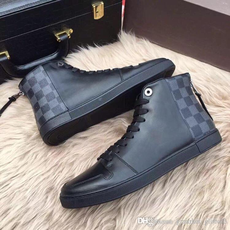 61bb577235 Hot LINE UP SNEAKER BOOT Men Sneakers Luxury Designer Shoes 1A1IKM Men  Boots High Quality Wholesale