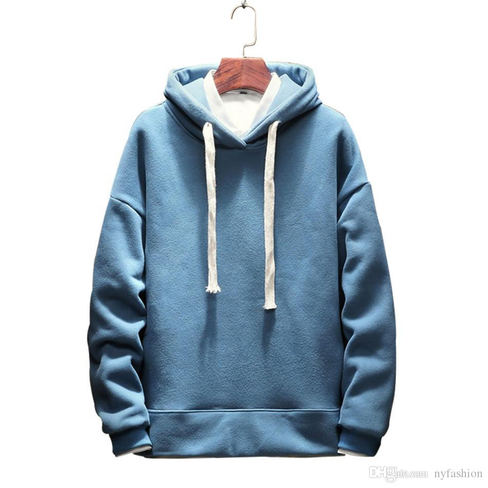 4ddb09219 2018 Autumn New Arrival Men's Hoodies Casual Solid Hooded Sweatshirt ...