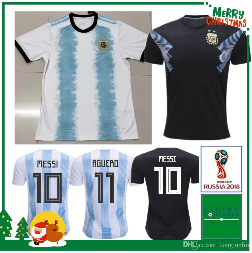 b1ca69a0e 2019 Argentina Home Away Jersey Argentina MESSI DYBALA DI MARIA AGUERO  HIGUAIN Soccer Shirt Home National Team 19 20 Football Jersey Canada 2019  From ...