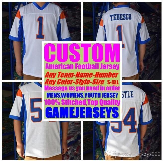 07b01db68ee 2019 Customized American Football Jerseys College Cheap Authentic Customize  Sports Usa Jersey Stitched Man Womens Youth Kids 4xl 5xl 6xl 7xl 8xl From  ...