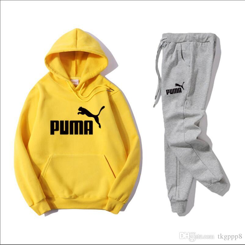 ab38d09d64 HOT PUMA men s Tracksuits Sweat Suits Autumn Sportwear Tracksuits Jogger  Suits Jacket Pants Sets Sporting Suit Costume de sport S--3XL