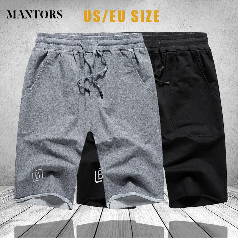 Summer Men Casual Shorts Brand Breathable Drawstring Mens Short Pant Black Grey Elastic Waist Shorts Male Sportswear US Size 2XL