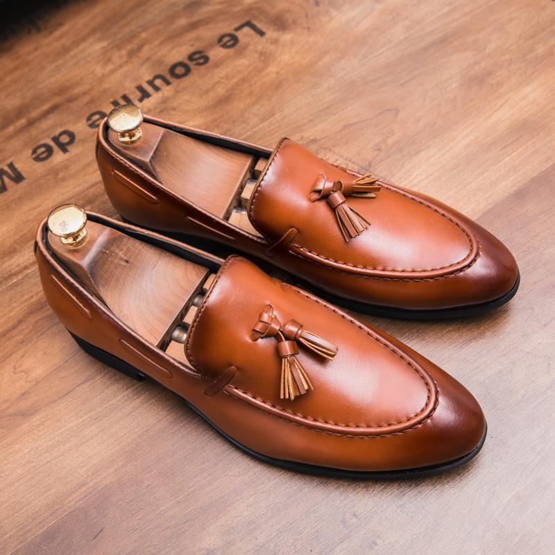45ffa0fc Compre HEINRICH Elegantes Zapatos Hombres Marca Italiana Borlas Hombres  Boda Zapatos Slip On Hombre Vestido Mocasines Chaussure Homme Mariage A  $64.1 Del ...