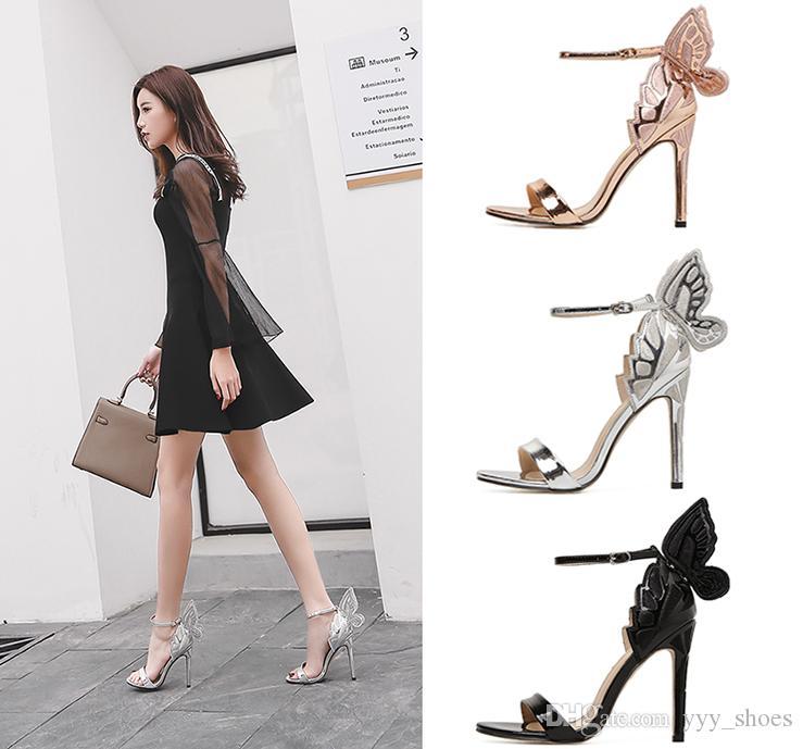 16461d447 Compre Boda De Moda Zapatos Para Mujer Zapatos Con Punta Abierta Sandalias  De Verano Fiesta De Graduación Tacones Altos Zapato Hebilla Correa Tacón 11  Cm ...
