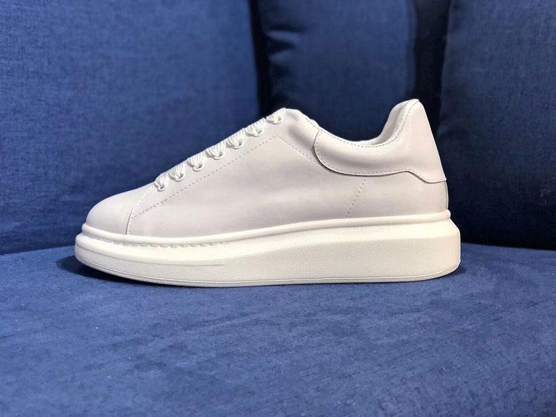 2019 New Designer shoes white leather casual shoes for girl women men black gold red fashion comfortable flat sneakers size 35-44 Z15