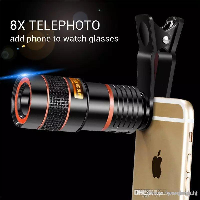 201947 2019 Free DHL 8x Zoom Telescope Telephoto Camera Lens for Samsung S6 Note 5 for iphone 6 Plus Mobile Phone