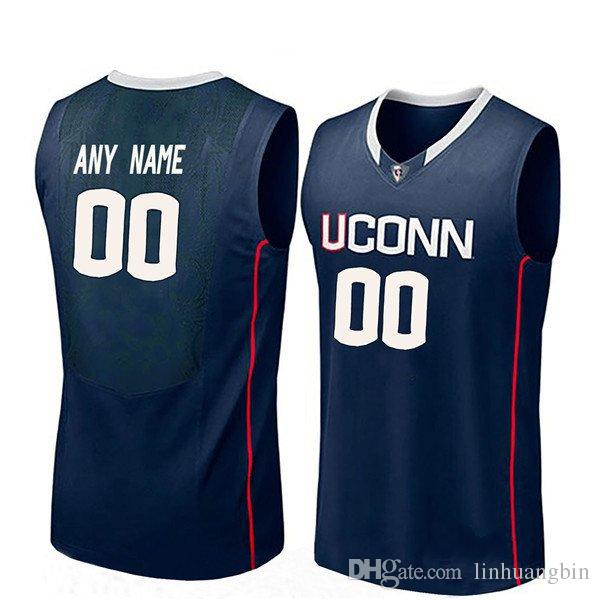 free shipping 1d8de 2357e Customize Youth Connecticut Huskies Navy Blue Kemba Walker White Ray Allen  Eric Cobb Stitched College Basketball Jersey