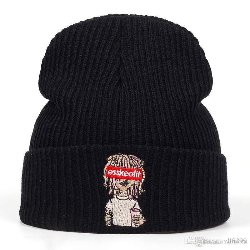 Compre Nueva Lil Pump Esskeetit Gorros Skullies Hombres Mujeres Hip Hop  Gorra Otoño Invierno Sombreros Sombrero Caliente Unisex Casual Gorras A   8.55 Del ... a5ebb6afc52