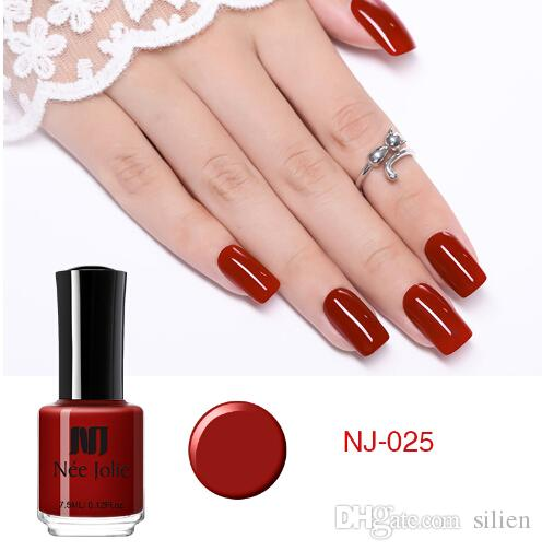 Nail Polish Fast Dry Pure Color Nude Coffee Gray Red Series Nail Art ...