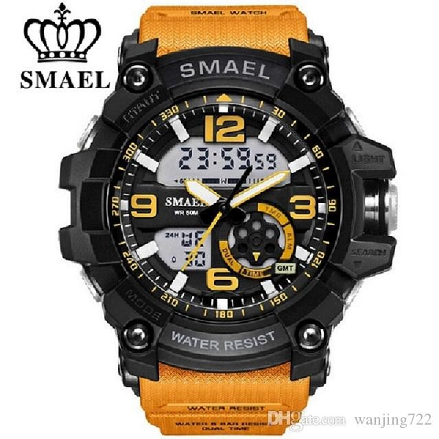 SMAEL Waterproof Digital Watch Men Sport Super Cool Men's Casual Quartz Sports Watches LED Military Wristwatch Male xfcs