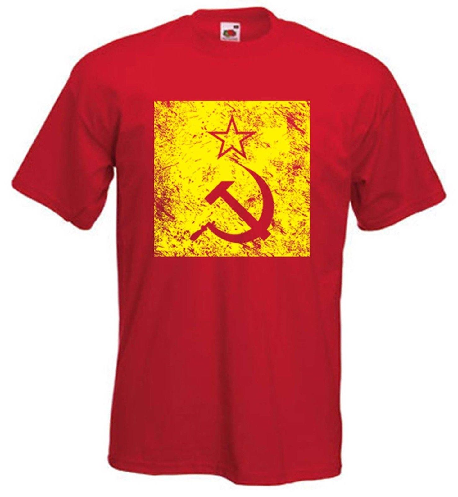 645ce6e6b HAMMER & SICKLE T SHIRT CCCP Soviet Russia Communist USSR KGB Political  Funny Unisex Casual Tshirt Top Awesome Tee Different T Shirts From  Classicclobber, ...