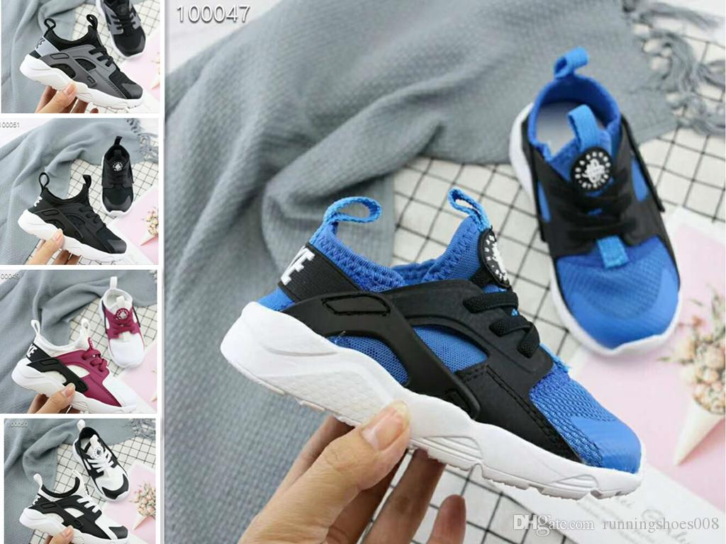 b62c637862 2019 Newest Kids Air Huarache Sneakers Shoes For Boys Children's Trainers  Huaraches Sport Running Shoes Size 22-35