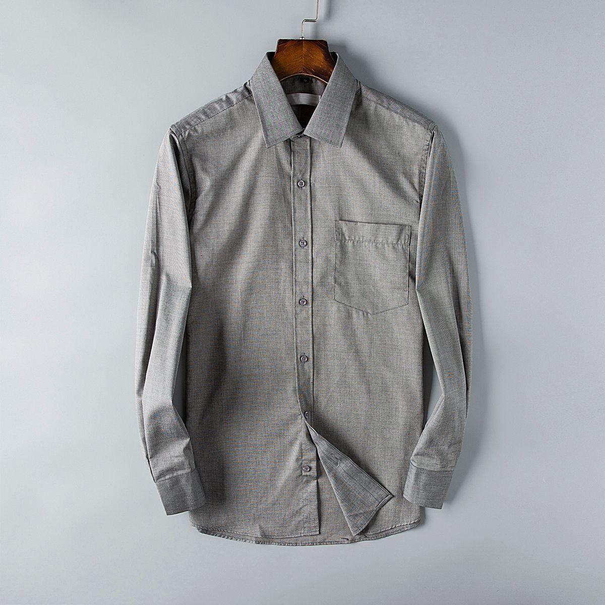 Fashion Brand Mens Dress Shirts Paris Business Shirt Long Sleeve