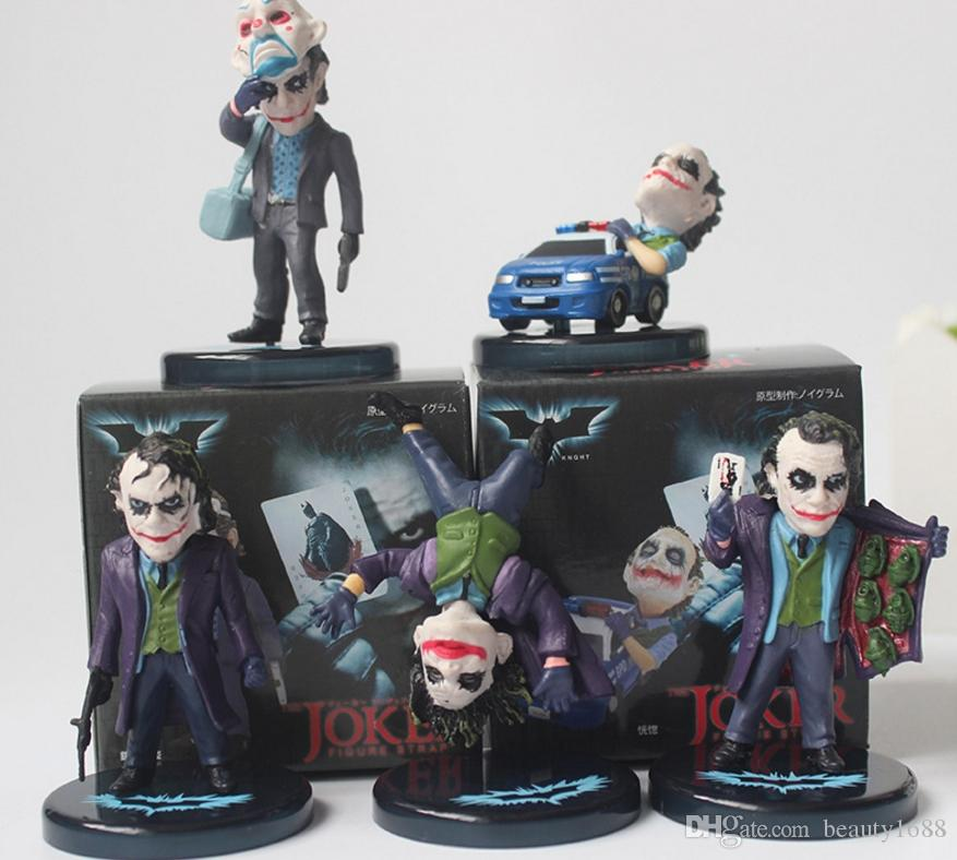 5pcs/set 5cm Small American Anime Ornaments Dark Knight Model Doll Jack Clown Model Doll Luck Egg Display Ornaments BLIND BOX Gift Package H