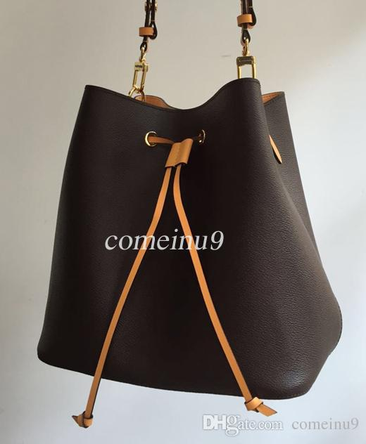 2019 women's Fashion Bucket Bag High Quality Genuine Leather Shoulder Bag Classic Design Crossbody Bags Lady Handbags more colors