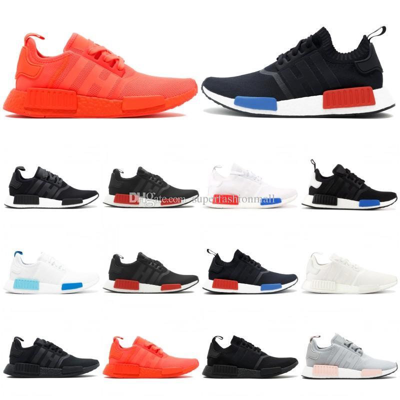 a40d89107 NMD R1 Primeknit Mens Designer Shoes 2019 New OG Release Running ...