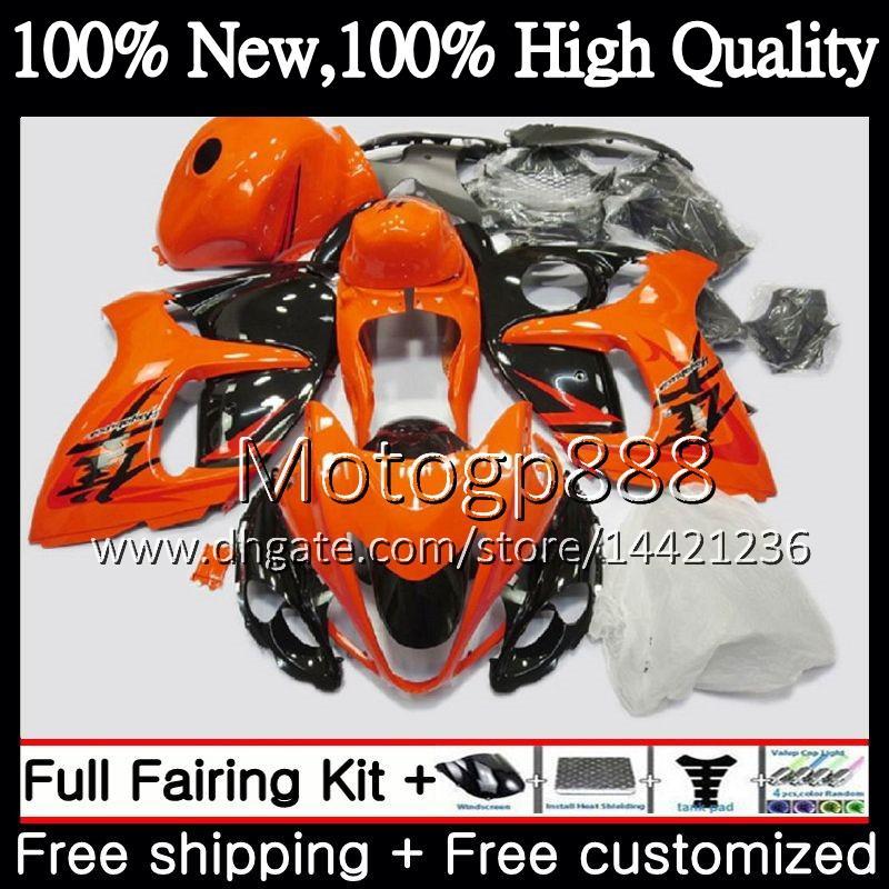 Körper orange schwarz für SUZUKI Hayabusa GSXR1300 2008 2009 2010 2011 19PG81 GSXR 1300 08 09 10 11 GSX R1300 12 13 14 15 Verkleidung Karosserie