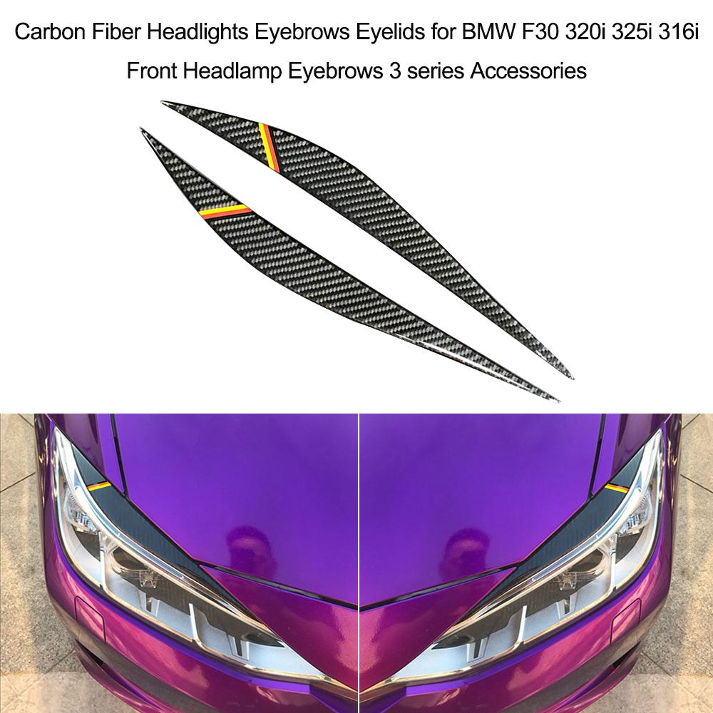 2019 Front Headlamp Eyebrows 3 Series Accessories Carbon Fiber