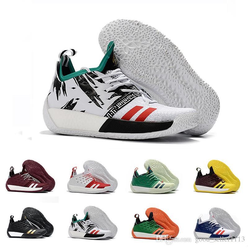 55dd4a0679cd High Quality James Harden Vol.2 Basketball Shoes For Men Fashion Black  White Red Green Orange Blue Grey Brown Wine Sports Sneakers Basketball  Trainers ...