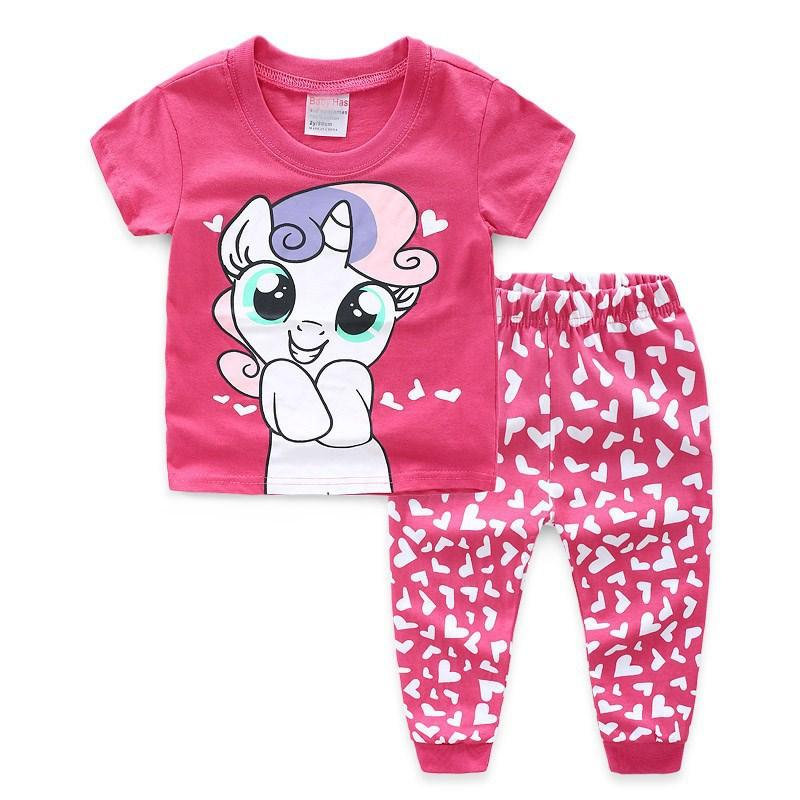 0c37fcd4ac84 2019 2019 Girls Clothes Baby Girl Pajamas Kids Ensemble Fille ...