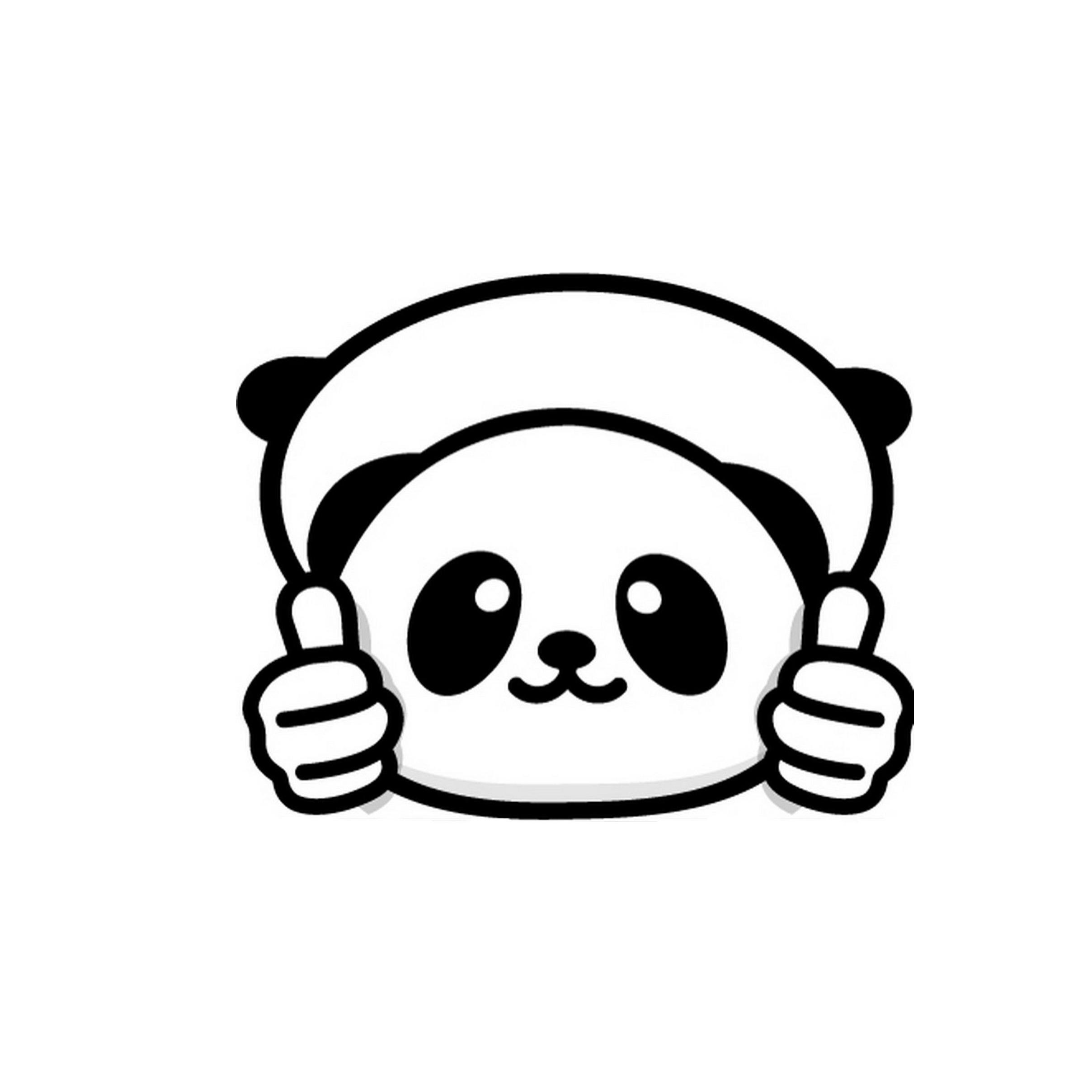 2019 panda sticker vinyl decal for car and others cute and interesting fashion sticker decals from xymy787 2 92 dhgate com