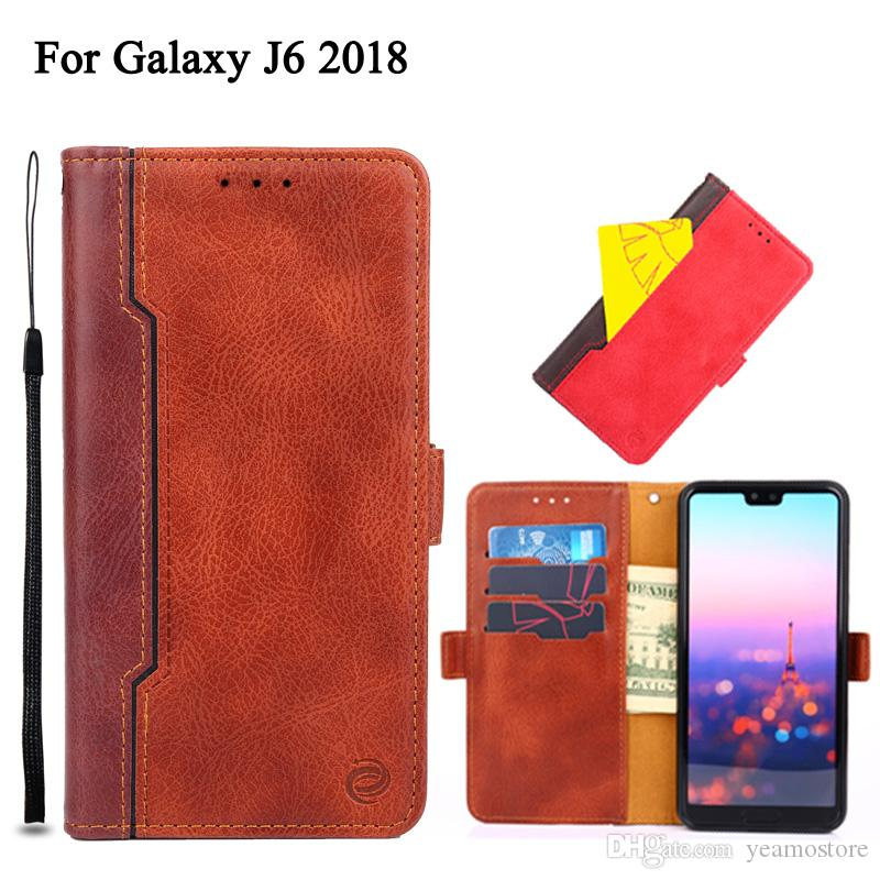 timeless design 3ae65 1a91f PU Leather Flip Case for Samsung Galaxy J6 J2 2018 Galaxy J2 prime J5 2017  Case Multi Function Card Slot Wallet Phone Case