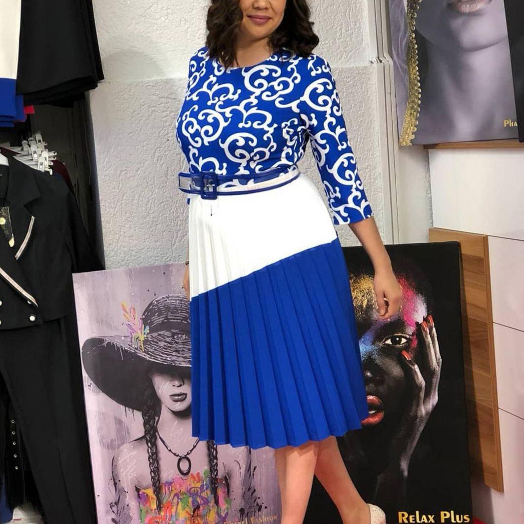 918e4d2db3 Acquista African Dress 2019 Estate Elegante Ufficio Lady Donna Rosa Midi  Dress Ladies Stampa Floreale Mezza Manica Pieghettato Un Abito Di Linea A  $23.52 ...