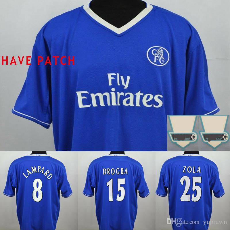quality design a75e8 77181 Velvet Name Chelsea Lampard 03 04 05 Drogba Hasselbaink Soccer Jersey 2003  2004 2005 Retro Crespo Classic Football Camicia Terry Maillot de Foot