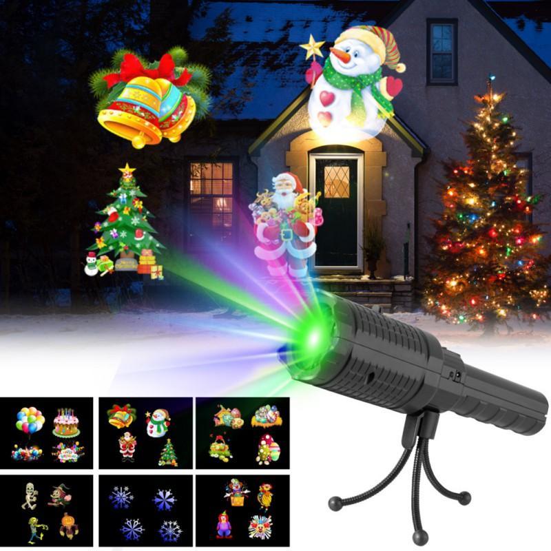 ebed4357dd6 Compre El Proyector Portátil Enciende La Novedad 12 Diapositivas Las Luces  Navideñas De Proyección Para La Decoración De La Fiesta De Navidad A  52.87  Del ...