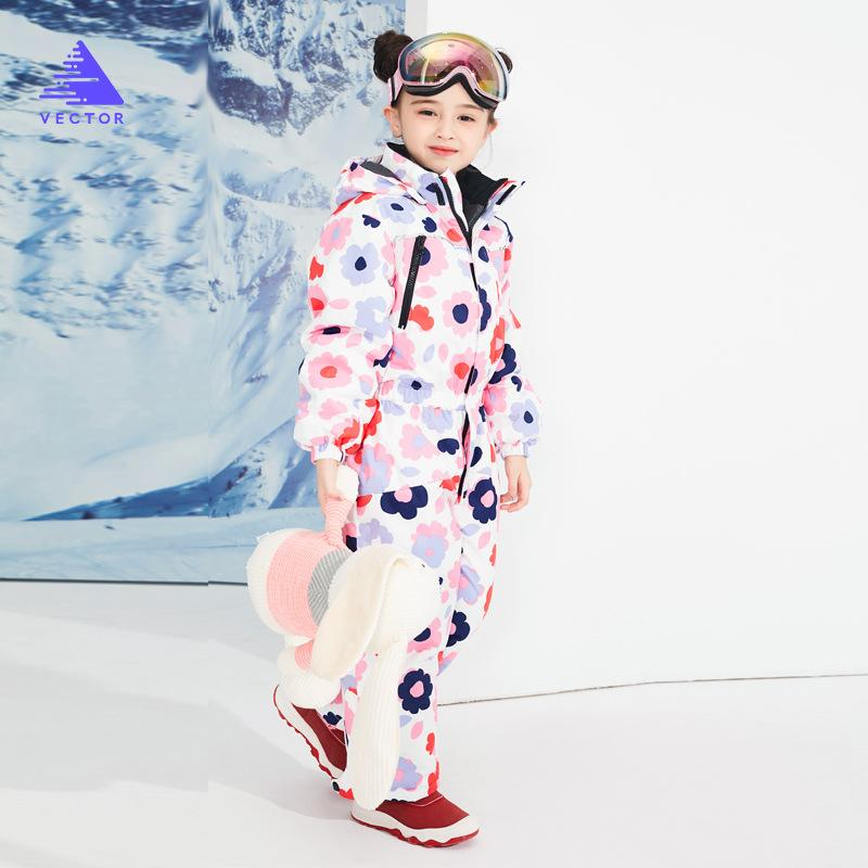 341caa9491c2 Boys And Girls Ski Wear Outdoor Warm Breathable Conjoined Snow Suit ...