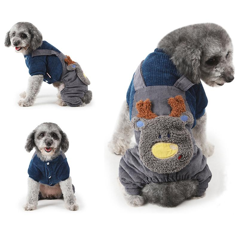 c1a3ed04c273 2019 Cute Reindeer Pet Dog Sweater For Autumn Winter Warm Knitting ...