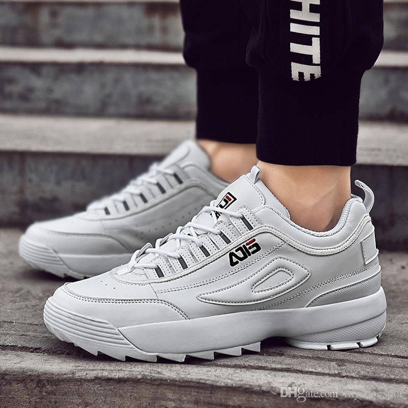 5f98d400f1f1 Bomlight 2019 New Men Sneakers Men Casual Shoes Retro White Sneakers Autumn  Winter Blade Damping Trainers Footwear Breathable 45 #239050