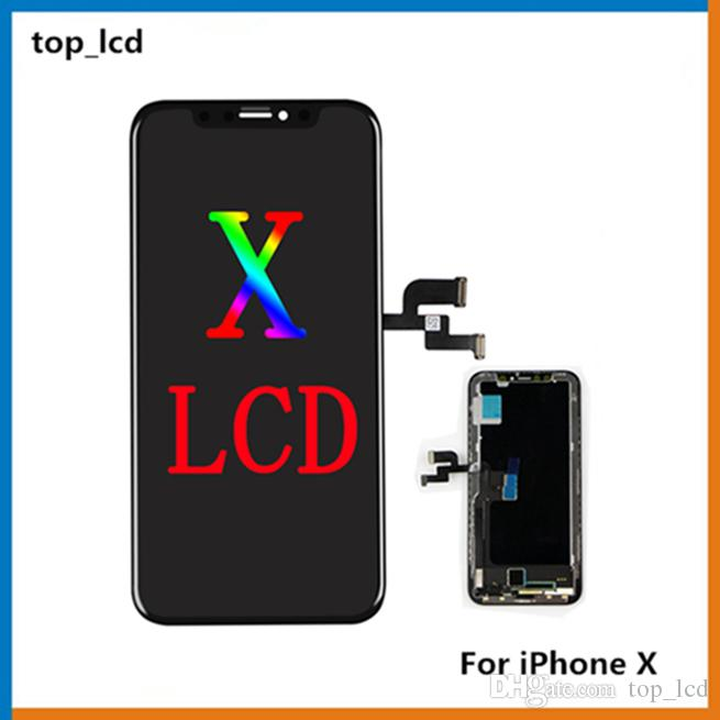 brand new 56820 0127c 1PCS (100% Original LCD) For iPhone X 10 Display Touch Digitizer Complete  Screen with Frame Full Assembly Replacement & Free Shipping