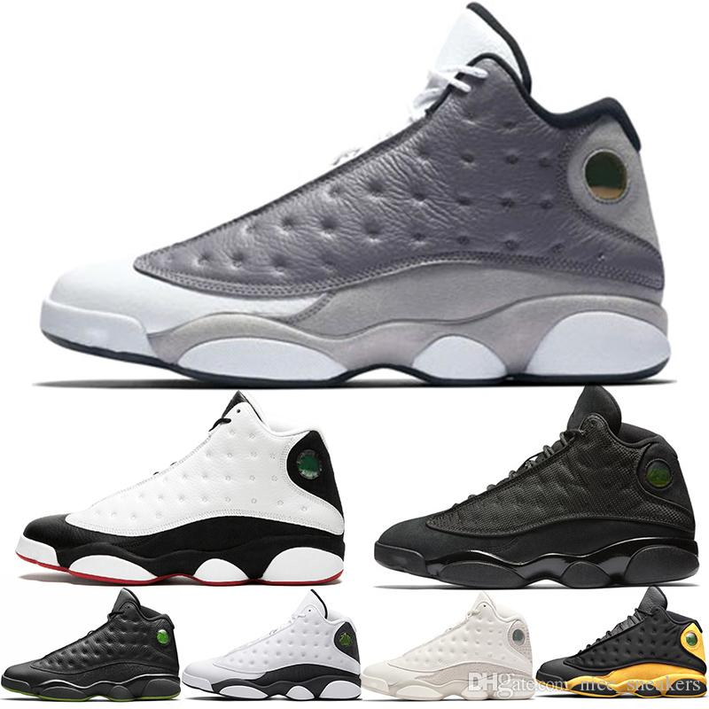 89fb42128fb224 13 13s Men Basketball Shoes Atmosphere Grey Cap And Gown He Got Game  Phantom OG Black Cat White Designer Trainers Sports Sneakers Wholesale  Women Basketball ...