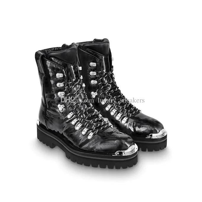 competitive price 42784 e9da3 2018-2019 New Outland Stivaletti per uomo Stivali da donna di design Scarpe  di alta qualità in pelle verniciata lucida