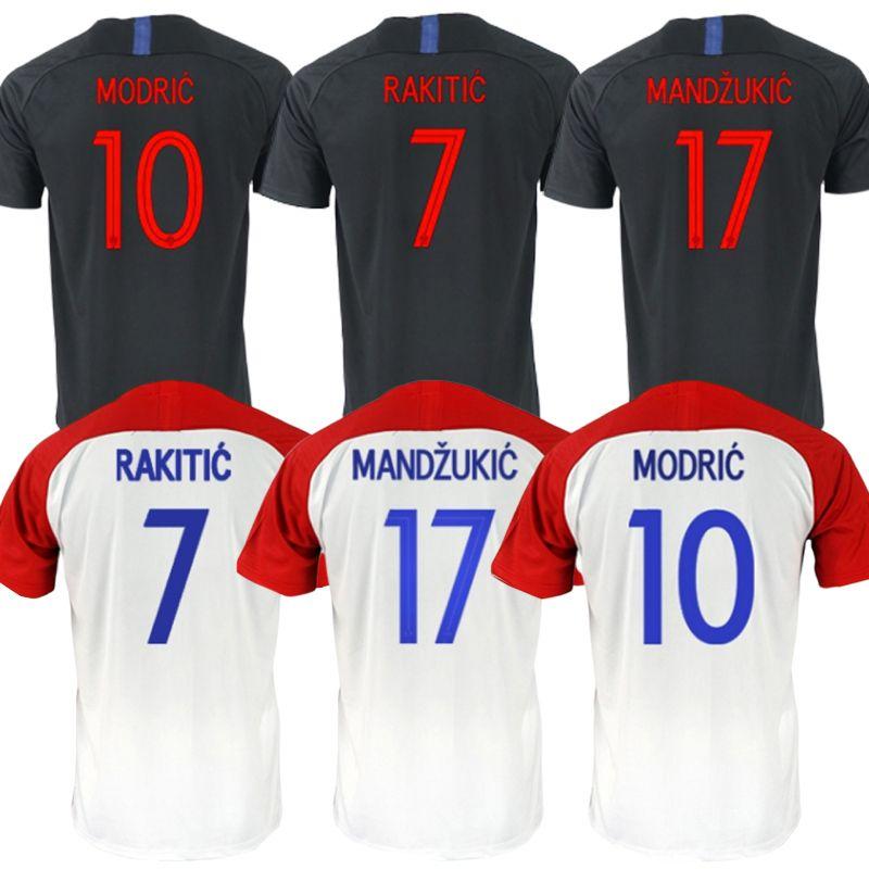 info for d842f 58934 Croatia Soccer Jerseys 2018 World Cup 10 MODRIC Jerseys 11 MANDZUKIC Cheap  football suit 7 RAKITIC CROATIA Jerseys customizable
