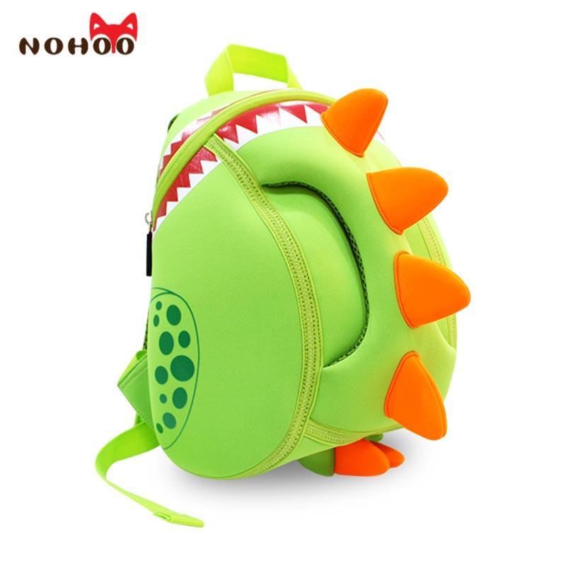 9f8974d5e539 NOHOO Baby Kid S School Bags Waterproof Dinosaur Neoprene Children School  Bags Boys Girls 3D Cartoon Bags For 2 5 Years Old Y18120601 Back To School  ...