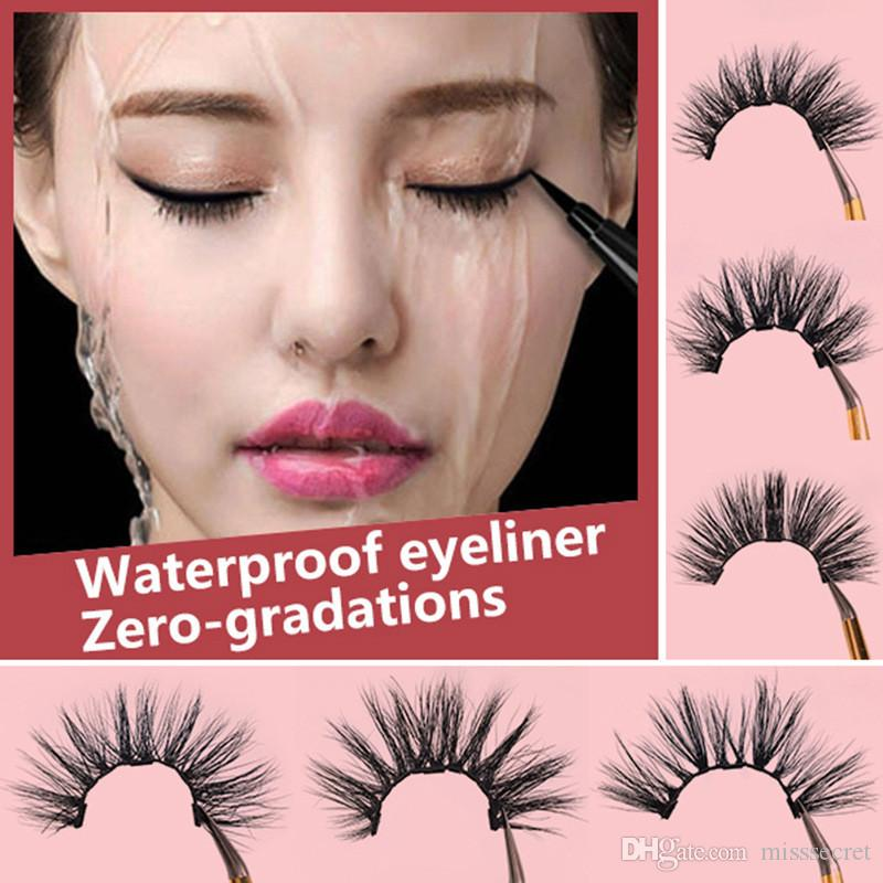 New 3D Mink Eyelashes Magnetic Liquid Eyeliner Set Magnetic Eyelash False Eyelash Extension Waterproof Mink Lashes Makeup Maquiagem