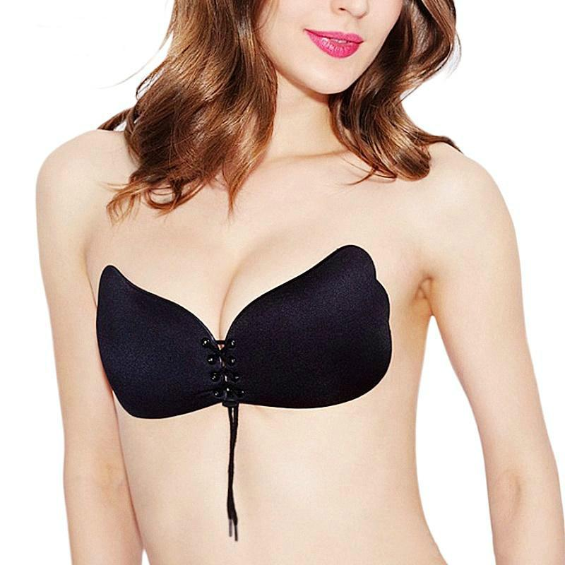 e8e01cc683 Butterfly Wing Invisible Underwear Seamless Sexy Gather Push Up Bra ...