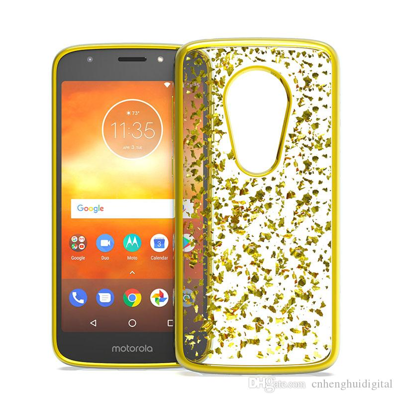 For LG Aristo 3 MOTO G7 power Metropcs Electroplating Drop Glue TPU Back  Cover For LG Stylo 5 K40 Oppbag