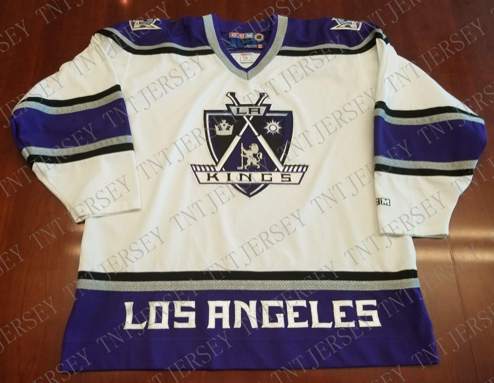 hot sale online 92d1d 272b5 Cheap custom Los Angeles Kings Vintage CCM Jersey Crown Stitched Retro  Hockey Jersey Customize any name number XS-5XL