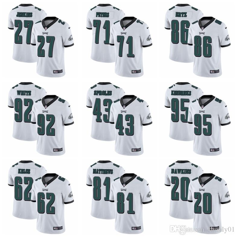 e6e1d2b7c 86 Zach Ertz 62 Jason Kelce Philadelphia 08 Eagles Jersey 20 Brian Dawkins  Foles 9 Cox 27 Jenkins Mills Football Jersey White Suits White Tux From ...