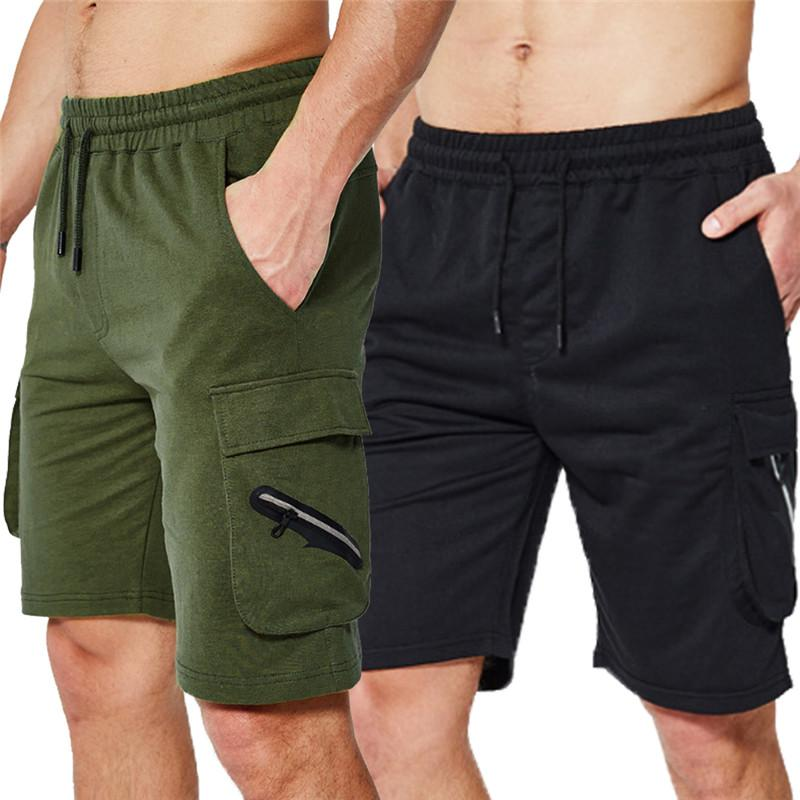 48954d2848 2019 Mens Cargo Shorts Summer Loose Half Short Pants Solid Camo Shorts  Baggy Elastic Waist Casual With Pocket From Biangye, $21.16 | DHgate.Com