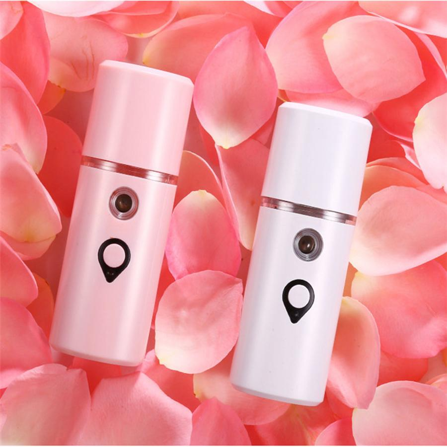 Portable USB Face Spray Bottle Nano Mister Facial Steamer Mini Atomization Mister Face Facial Moisturizing Replenishing Tools RRA890