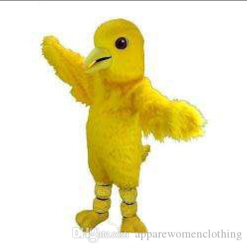2019 High quality yellow chicken Mascot Costume Halloween Christmas Birthday Celebration Carnival Dress Full Body Props Outfit