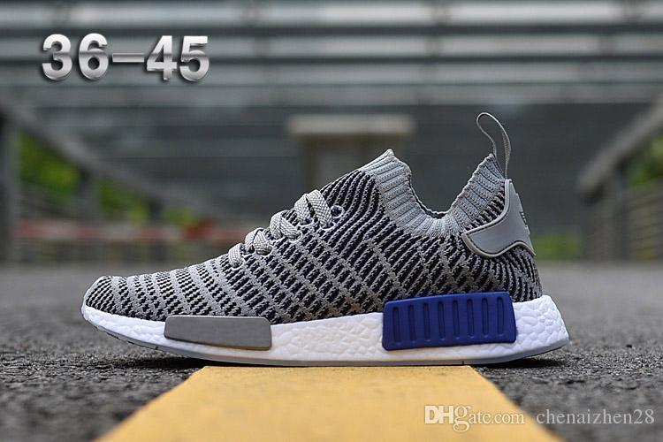best service 57fb2 de2a3 PRIMEKNIT NMD_R1 STLT SHOES Women s R1 OG pk Casual Shoes High Quality Sale  36-45 Free Shipping Teen