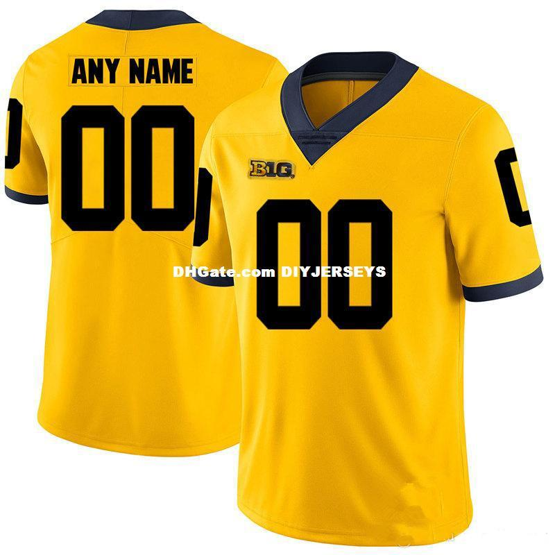 huge discount 3e8b3 abd51 Custom NCAA Michigan Wolverines Football Jersey Ben Bredeson Karan Higdon  Chase Winovich Lavert Hill Tarik Black Michigan Wolver Jersey